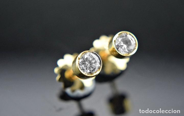 Joyeria: LIQUIDACIÓN, pendientes Dormilonas de diamantes 0,83ct SI-H en oro 18K - Foto 12 - 128031403
