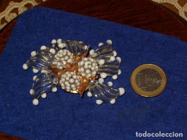 ANTIGUO BROCHE DE CRISTAL DE MURANO. (Joyería - Broches Antiguos)