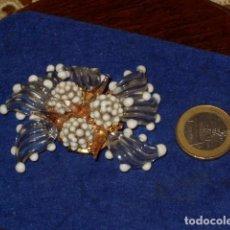 Joyeria: ANTIGUO BROCHE DE CRISTAL DE MURANO.. Lote 128161387