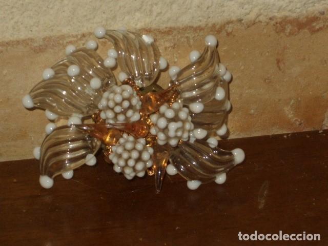 Joyeria: ANTIGUO BROCHE DE CRISTAL DE MURANO. - Foto 3 - 128161387