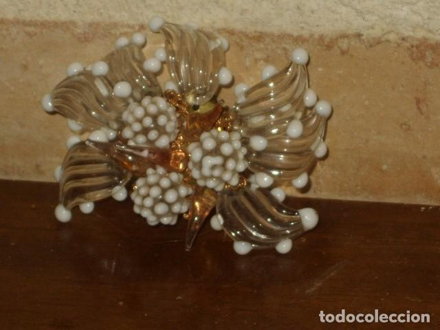 Joyeria: ANTIGUO BROCHE DE CRISTAL DE MURANO. - Foto 4 - 128161387