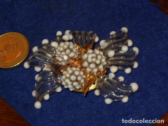 Joyeria: ANTIGUO BROCHE DE CRISTAL DE MURANO. - Foto 6 - 128161387