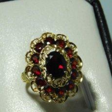 Joyeria - Preciiso anillo de oro 18K con granates estilo victoriano - 128180799