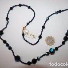 Joyeria: BONITO COLLAR DE CRISTAL NEGRO DE BOHEMIA DE LA REPUBLICA CHECA.. Lote 128273779