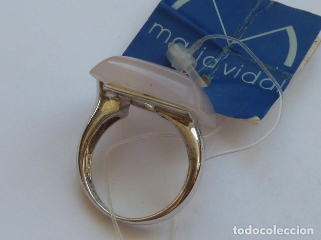 Joyeria: ANILLO VINTAGE PLATA DE 925 MM CON pidra traslucida blanca rosacea, costaba 57,20 euros - Foto 2 - 128292275