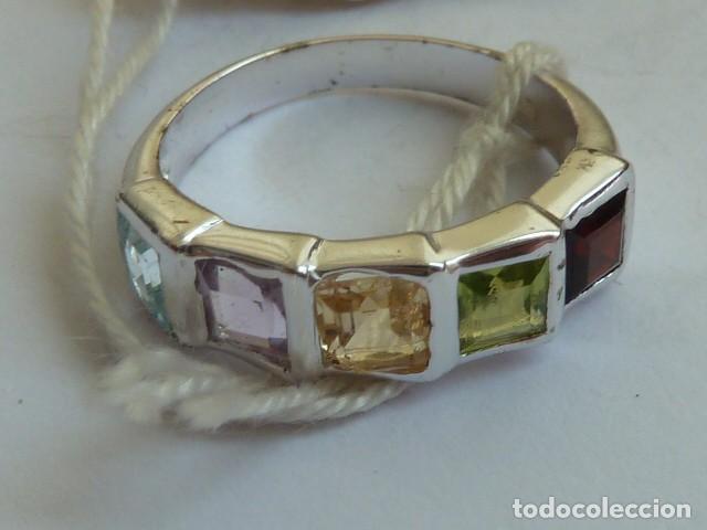 Joyeria: ANILLO VINTAGE PLATA DE 925 MM Con circonidas de varios colores, costaba 45,08 euros - Foto 2 - 128293127