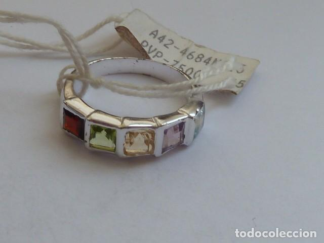 Joyeria: ANILLO VINTAGE PLATA DE 925 MM Con circonidas de varios colores, costaba 45,08 euros - Foto 5 - 128293127