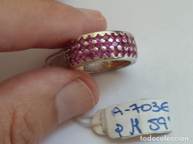 ANILLO VINTAGE PLATA DE 925 MM CON CIRCONITAS TIPO RUBIES, COSTABA 59,38 EUROS (Joyería - Anillos Antiguos)