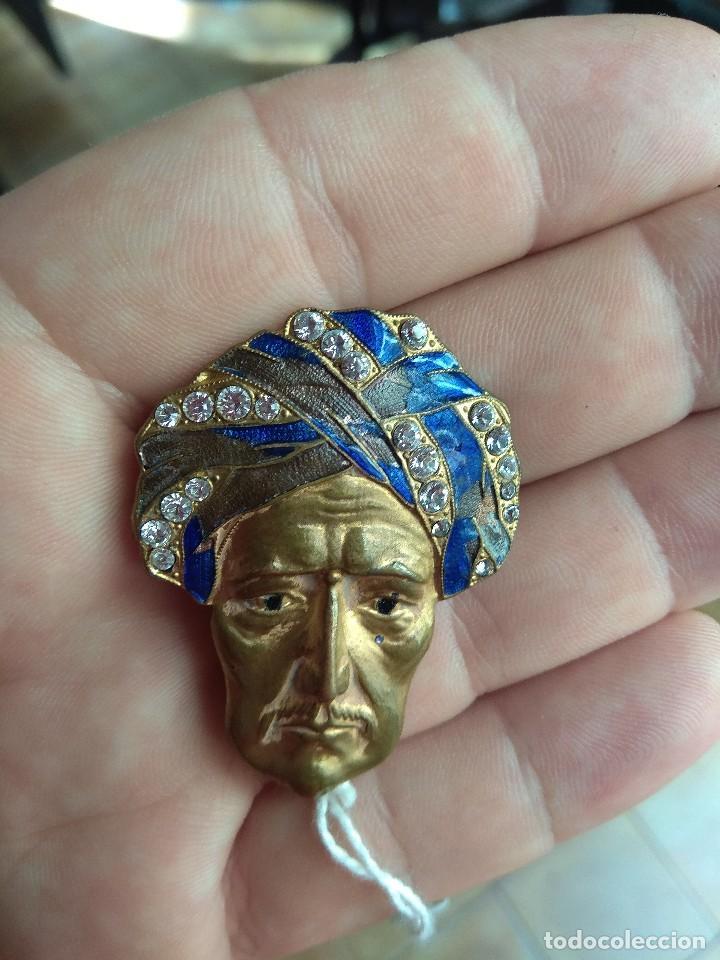 Joyeria: Antiguo Broche Hombre con Turbante - Foto 3 - 128457883