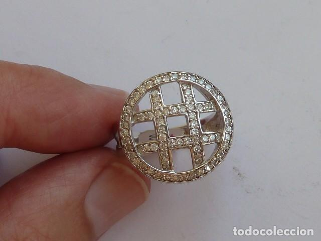 ANILLO DE PLATA DE 925 MM CON CIRCONITAS BLANCAS COSTABA 34 EUROS (Joyería - Anillos Antiguos)