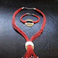 Jewelry - PRECIOSO CONJUNTO DE COLLAR GARGANTILLA Y PULSERA VINTAGE CON ADORNOS DE PLATA DE LEY 925 MILÉSIMAS - 128573663