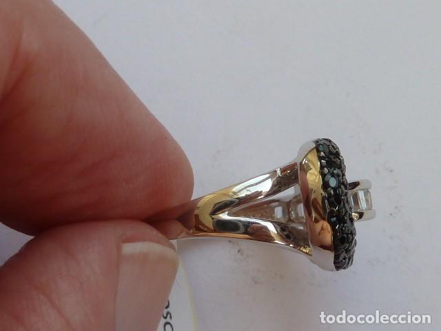 Joyeria: ANILLO de PLATA DE 925 MM CON CIRCONITAS BLANCAS cuadradas y negras costaba 21 EUROS - Foto 3 - 128577327