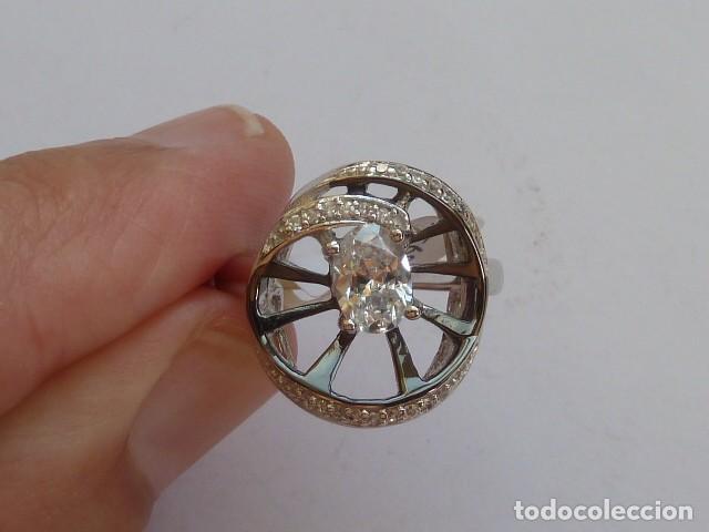 Joyeria: ANILLO de PLATA DE 925 MM CON CIRCONITAS, costaba 28 euros, plata rodiada - Foto 2 - 128611131