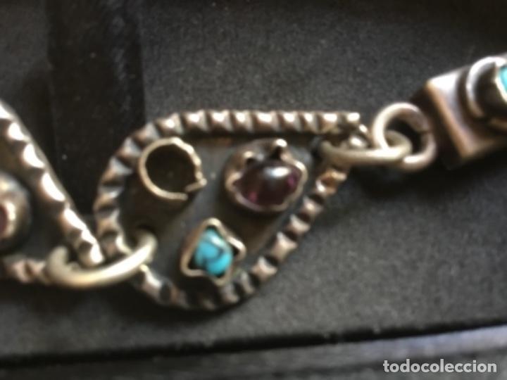 Joyeria: Bellísima pulsera de plata maciza de 925 con amatistas, corales y turquesas - Foto 3 - 128616823