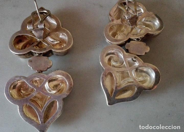 Joyeria: Grandes pendientes casa Vasari plata punzonada - Foto 2 - 128733451