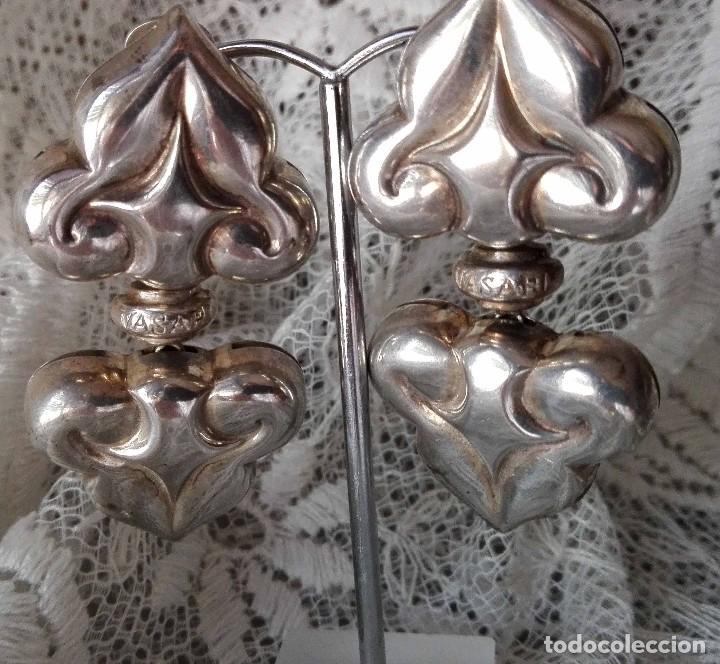 Joyeria: Grandes pendientes casa Vasari plata punzonada - Foto 5 - 128733451