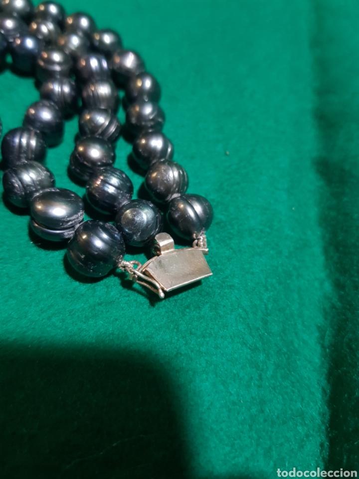 564d326f921b Joyeria  Collar de perlas negras y broche de plata - Foto 5 - 128878826