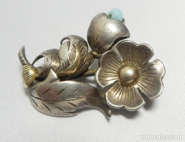 Joyeria: Precioso broche años 20 Art Decó en plata y vistas de oro de 18 - Foto 2 - 128983615