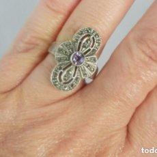 Joyeria - Precioso anillo de plata con marcasitas - 128984839