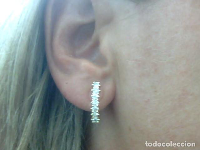 Joyeria: pendientes oro 18 kl y diamantes - Foto 3 - 129496579