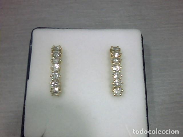 Joyeria: pendientes oro 18 kl y diamantes - Foto 4 - 129496579
