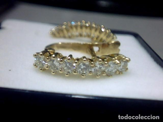Joyeria: pendientes oro 18 kl y diamantes - Foto 6 - 129496579
