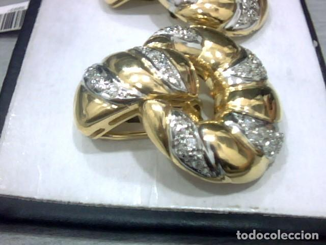 Joyeria: pendientes oro 18 kl y diamantes - Foto 2 - 129497803