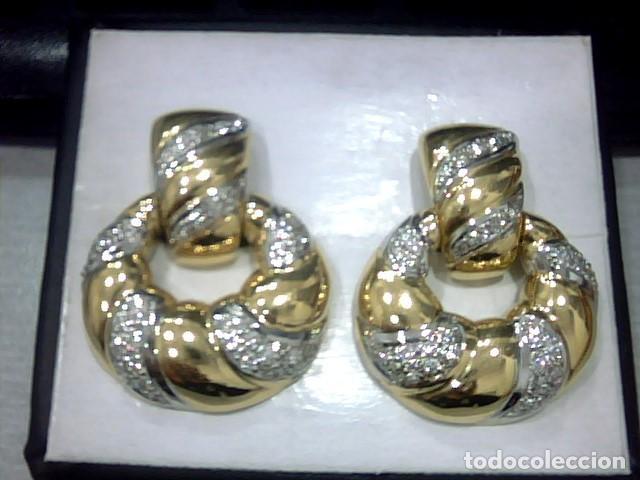 Joyeria: pendientes oro 18 kl y diamantes - Foto 3 - 129497803