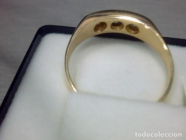 Joyeria: anillo oro amarillo 18 kl y diamantes - Foto 2 - 129499931