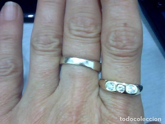 Joyeria: anillo oro amarillo 18 kl y diamantes - Foto 3 - 129499931