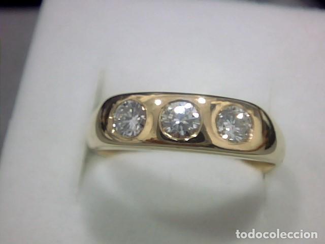 Joyeria: anillo oro amarillo 18 kl y diamantes - Foto 4 - 129499931