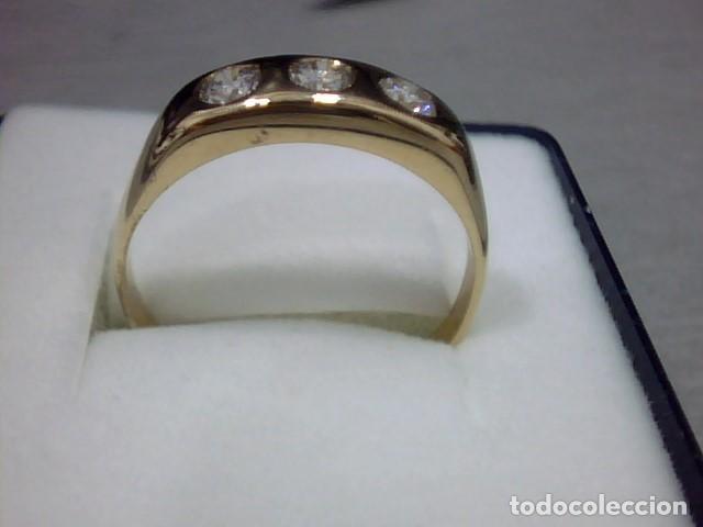 Joyeria: anillo oro amarillo 18 kl y diamantes - Foto 5 - 129499931