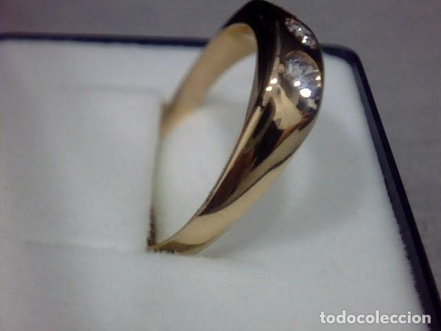 Joyeria: anillo oro amarillo 18 kl y diamantes - Foto 6 - 129499931