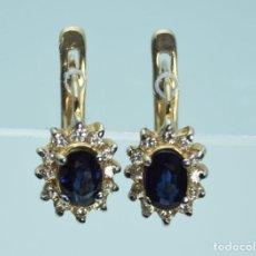 Jewelry - Pendientes de oro 14k con zafiro y topacio. Peso 3.5 g. - 129585275
