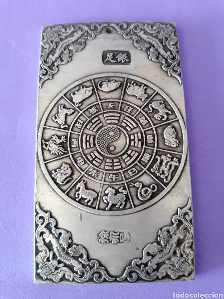 Joyeria: ANTIGUO LINGOTE PLATA TIBETANA CON DOS DRAGONES - Foto 3 - 129641786