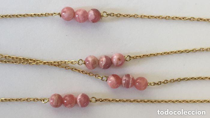 Joyeria: collar de oro de 18Kt y Rodocrositas. - Foto 6 - 100423535