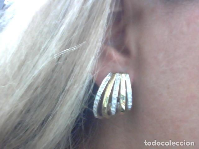 Joyeria: pendientes oro 18 kl y diamantes - Foto 3 - 130474634