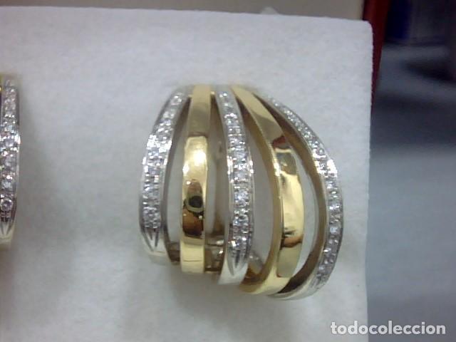 Joyeria: pendientes oro 18 kl y diamantes - Foto 4 - 130474634