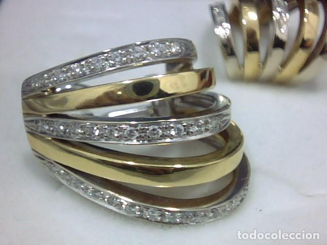 Joyeria: pendientes oro 18 kl y diamantes - Foto 5 - 130474634