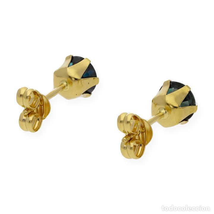 Joyeria: Pendientes Zafiros y Oro de Ley 18k - Foto 6 - 130482622
