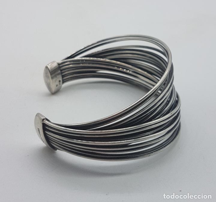 Joyeria: Gran brazalete de diseño en plata de ley sellado de la prestigiosa firma Victor Caparros . - Foto 4 - 130579482
