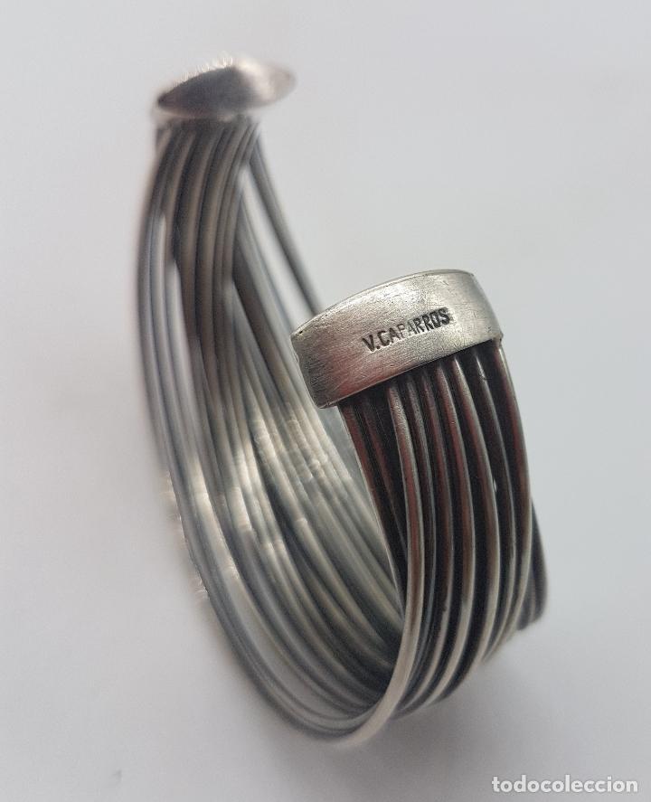 Joyeria: Gran brazalete de diseño en plata de ley sellado de la prestigiosa firma Victor Caparros . - Foto 6 - 130579482