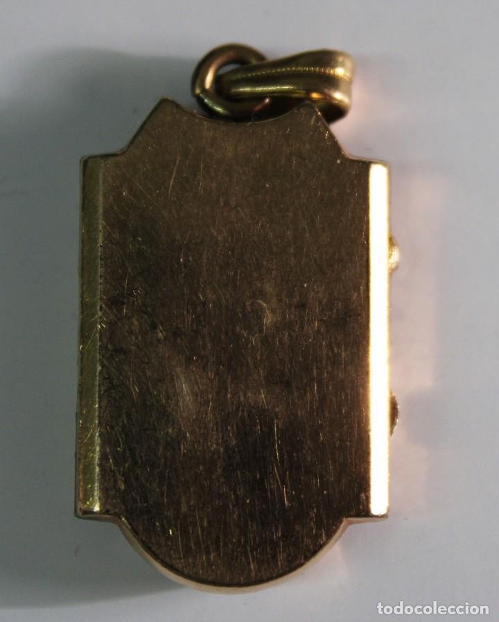 Joyeria: colgante guardapelos portarretratos metal sobredorado y perlas aljofar - Foto 2 - 130598538