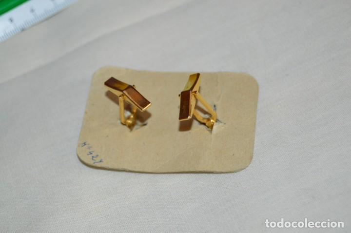Joyeria: Pareja de GEMELOS - Damasquinado Toledano - A estrenar - Oro de 24 kt incrustado - Muy antiguo - L08 - Foto 3 - 130613306