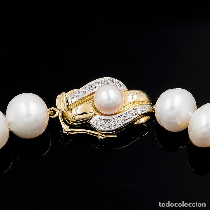 Joyeria: Collar de Perlas Australianas de los Mares del Sur con cierre de Oro 18k y DiamantesBG - Foto 3 - 133079134