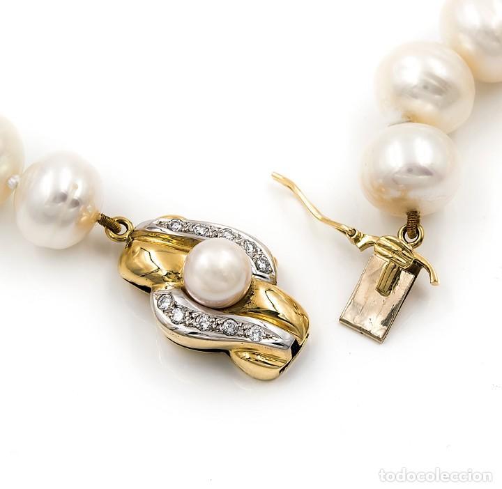 77fef3159c19 Joyeria  Collar de Perlas Australianas de los Mares del Sur con cierre de Oro  18k