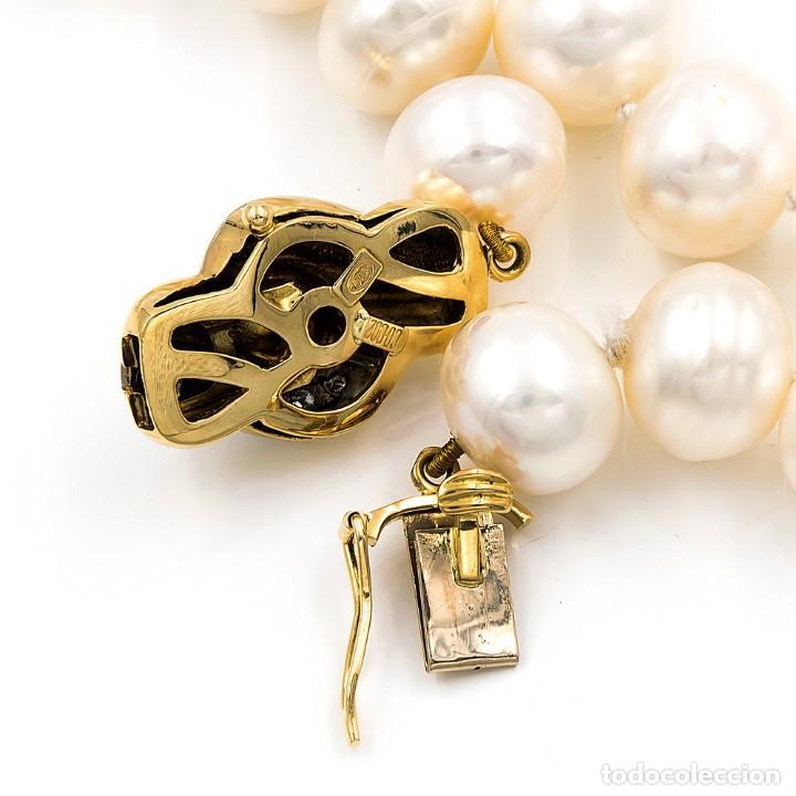 Joyeria: Collar de Perlas Australianas de los Mares del Sur con cierre de Oro 18k y DiamantesBG - Foto 11 - 133079134