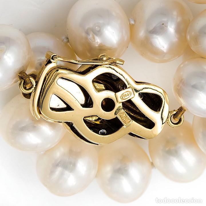 Joyeria: Collar de Perlas Australianas de los Mares del Sur con cierre de Oro 18k y DiamantesBG - Foto 13 - 133079134