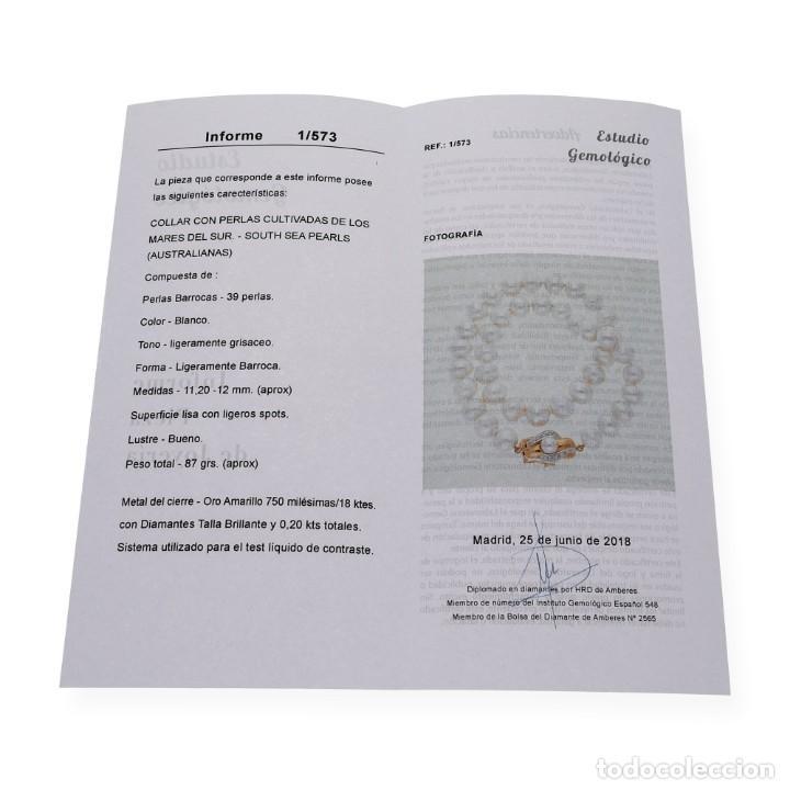Joyeria: Collar de Perlas Australianas de los Mares del Sur con cierre de Oro 18k y DiamantesBG - Foto 15 - 133079134
