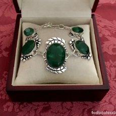 Jewelry - PULSERA CON ESMERALDAS NATURALES TALLADAS - 33 GRAMOS. - 130875840
